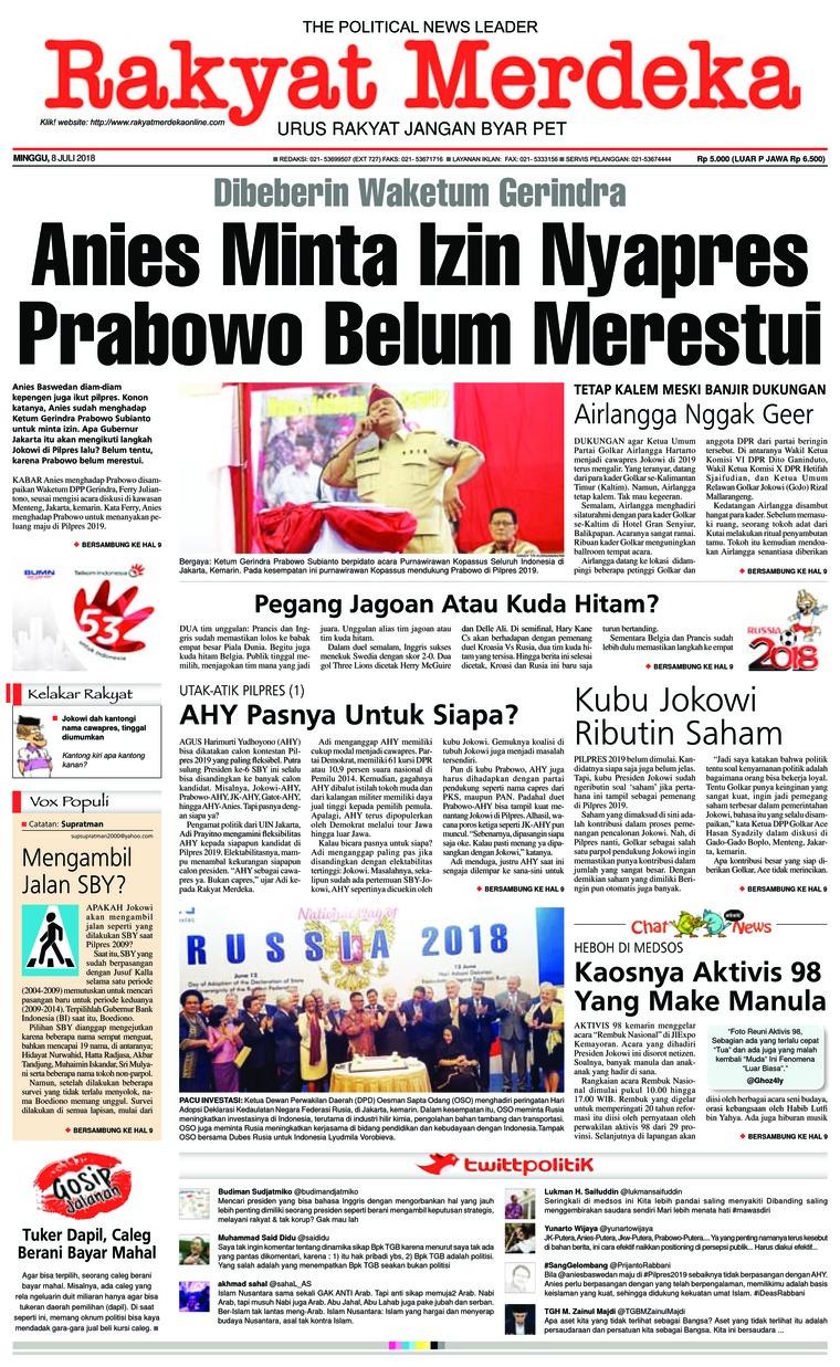 Koran Digital Rakyat Merdeka 08 Juli 2018