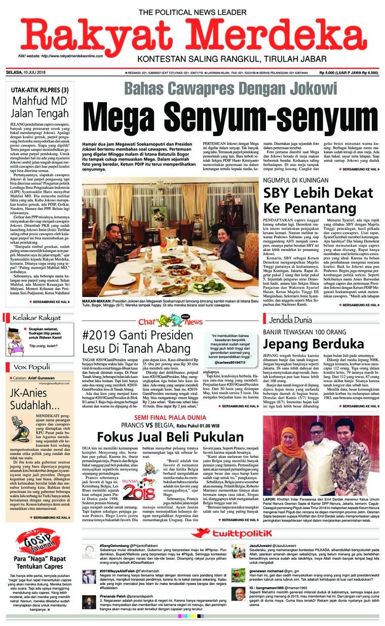 Koran Digital Rakyat Merdeka 10 Juli 2018
