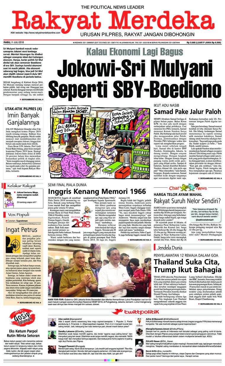 Koran Digital Rakyat Merdeka 11 Juli 2018