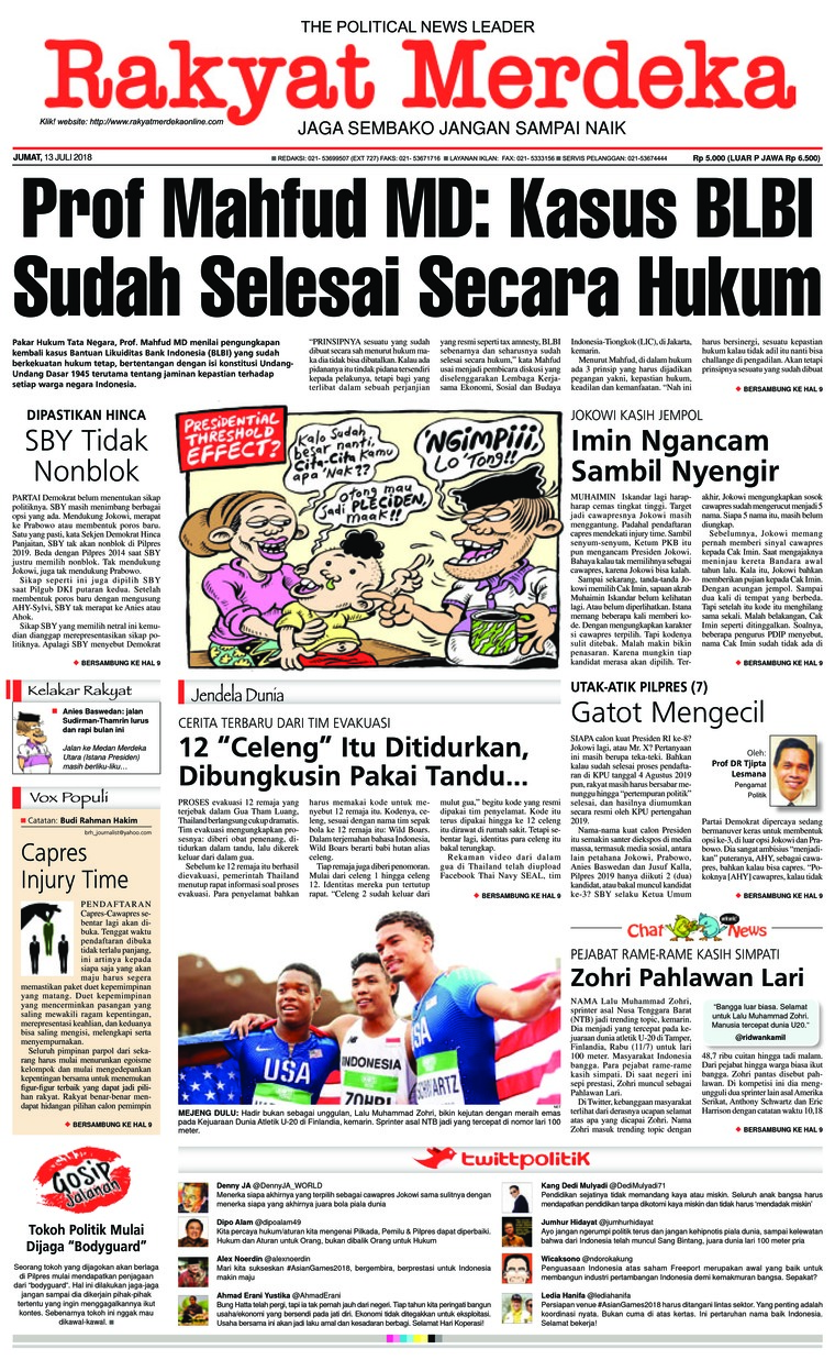 Koran Digital Rakyat Merdeka 13 Juli 2018