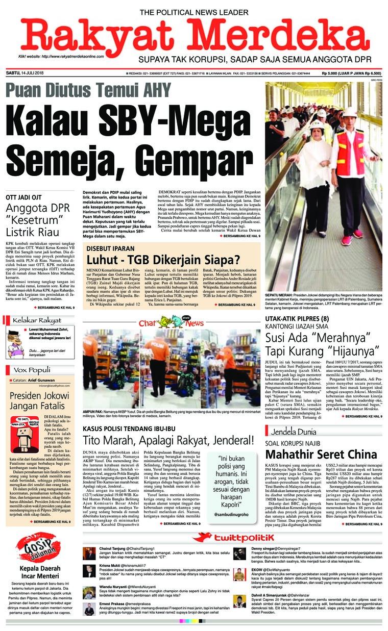 Koran Digital Rakyat Merdeka 14 Juli 2018