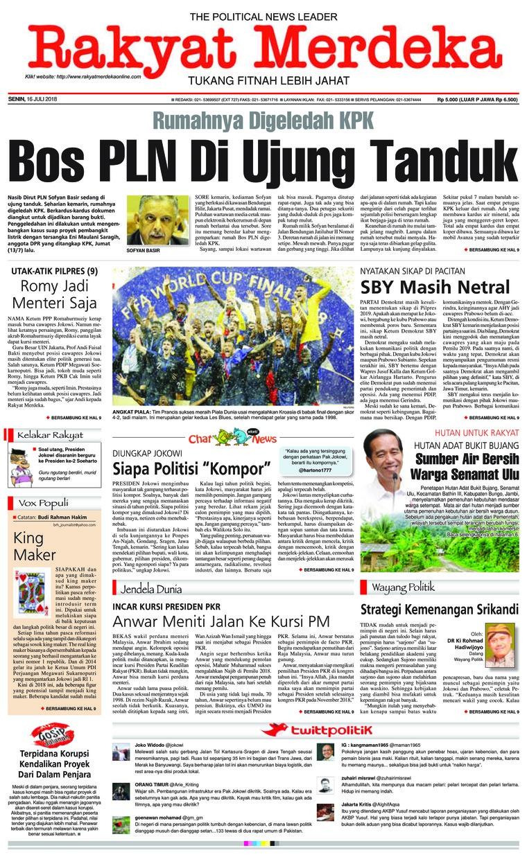 Koran Digital Rakyat Merdeka 16 Juli 2018