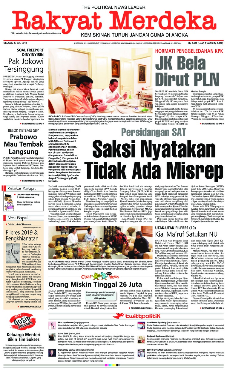 Koran Digital Rakyat Merdeka 17 Juli 2018