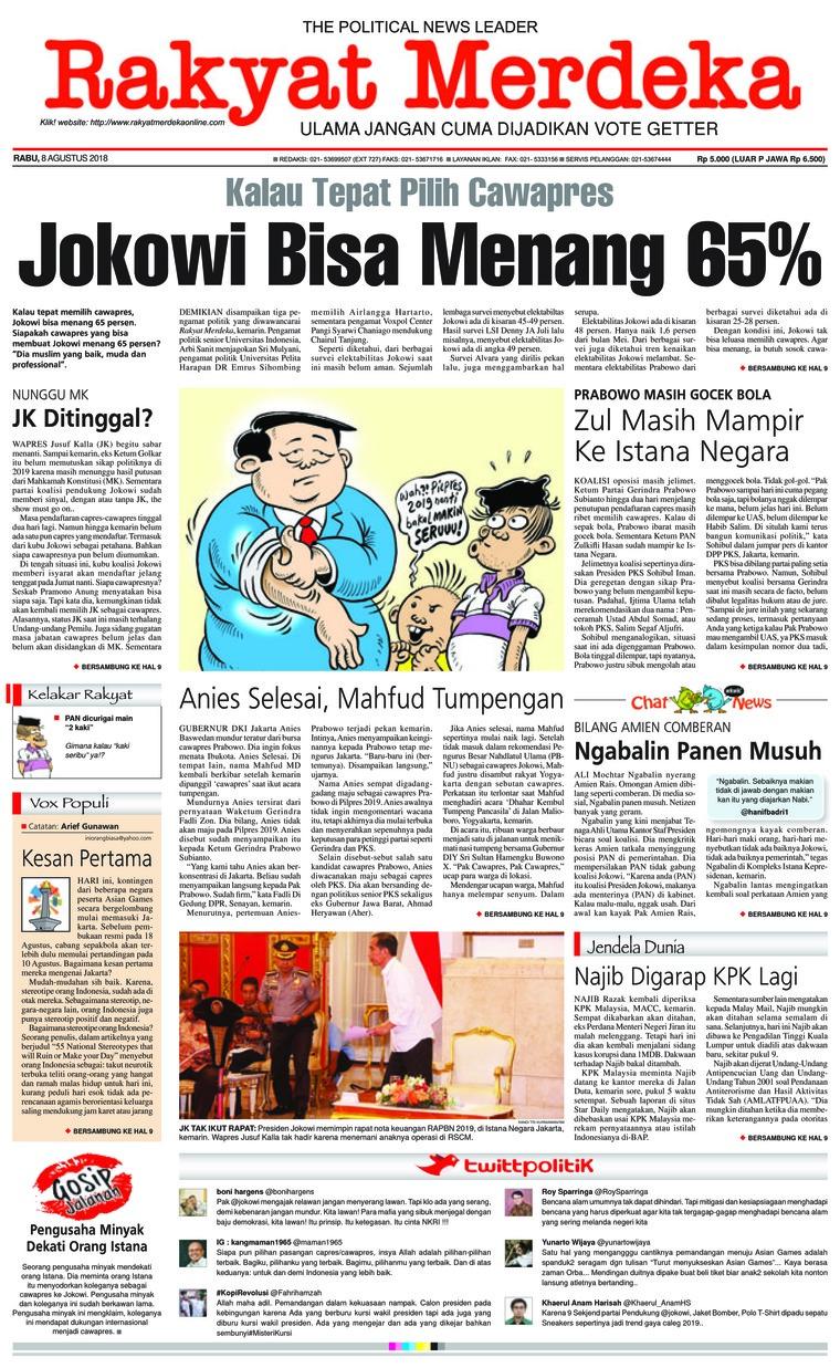 Koran Digital Rakyat Merdeka 08 Agustus 2018