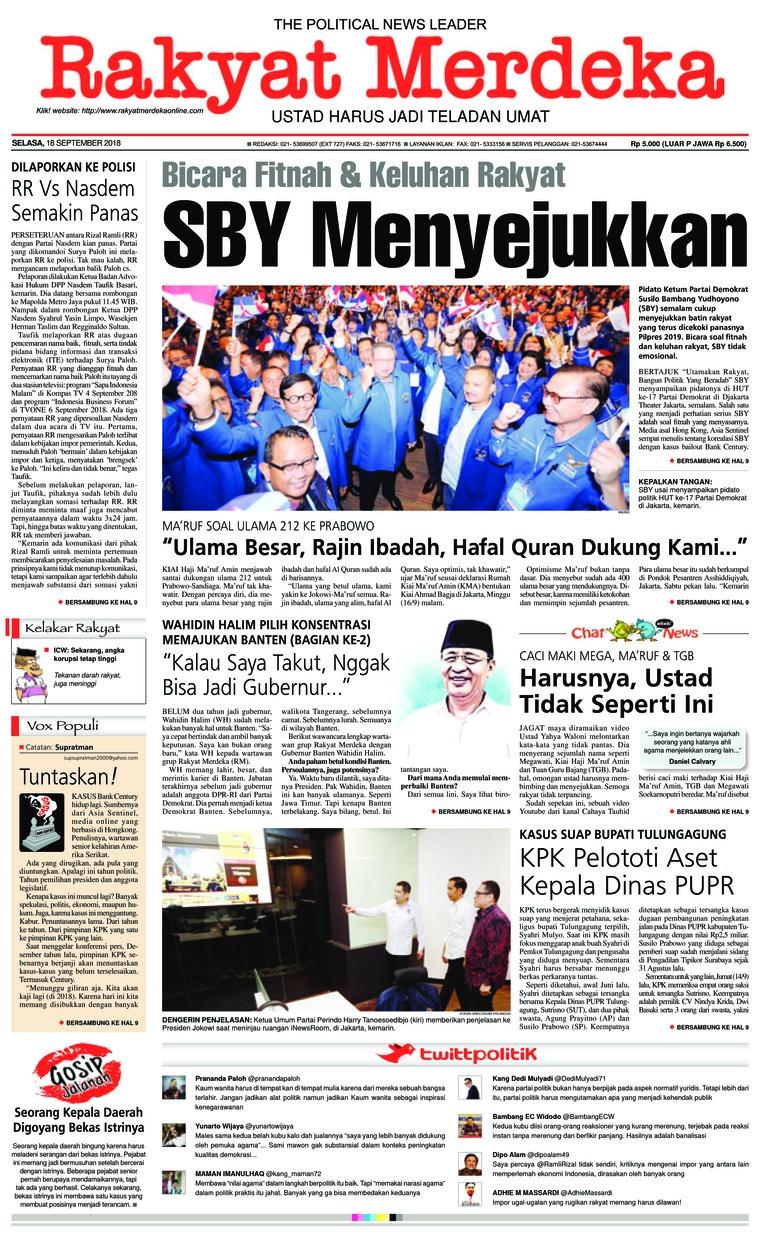 Koran Digital Rakyat Merdeka 18 September 2018