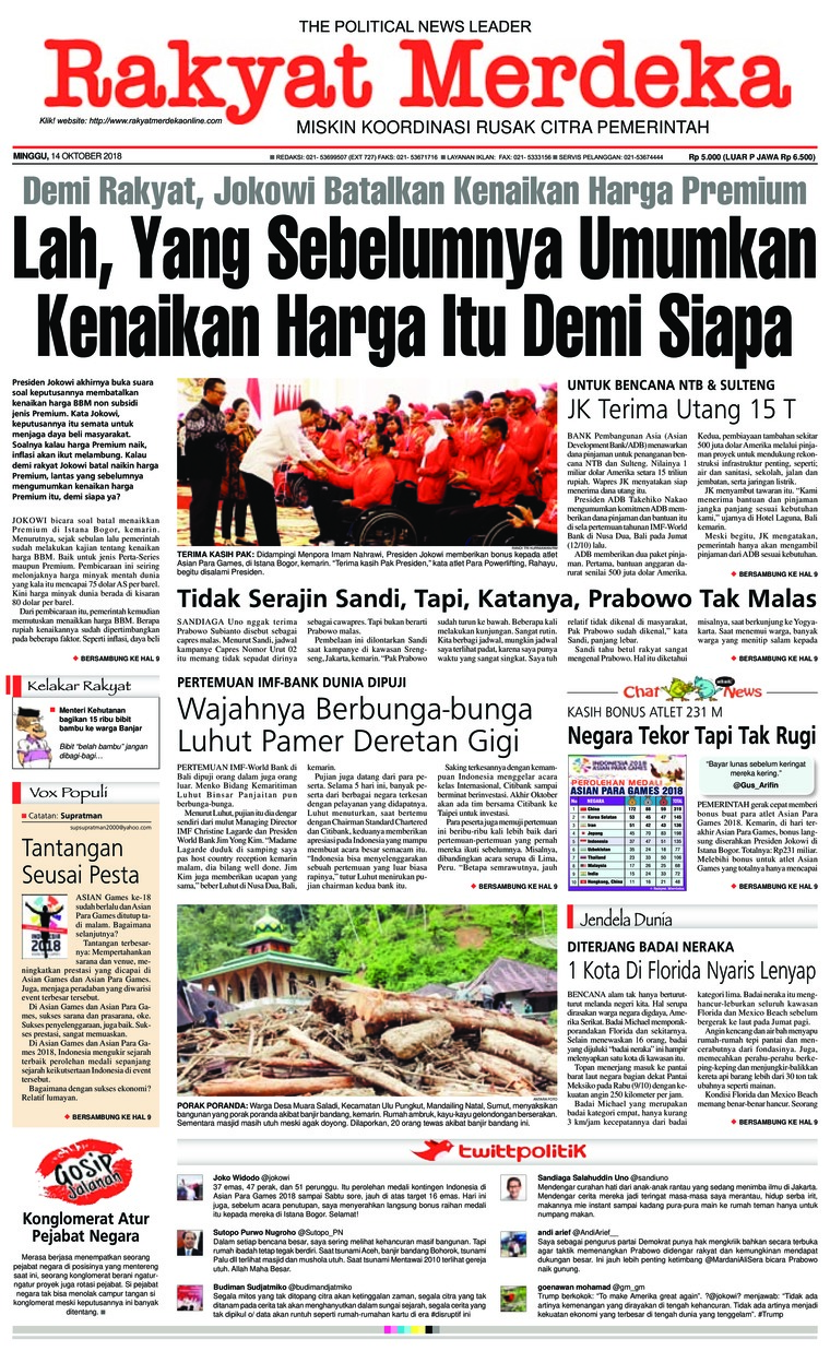 Koran Digital Rakyat Merdeka 14 Oktober 2018