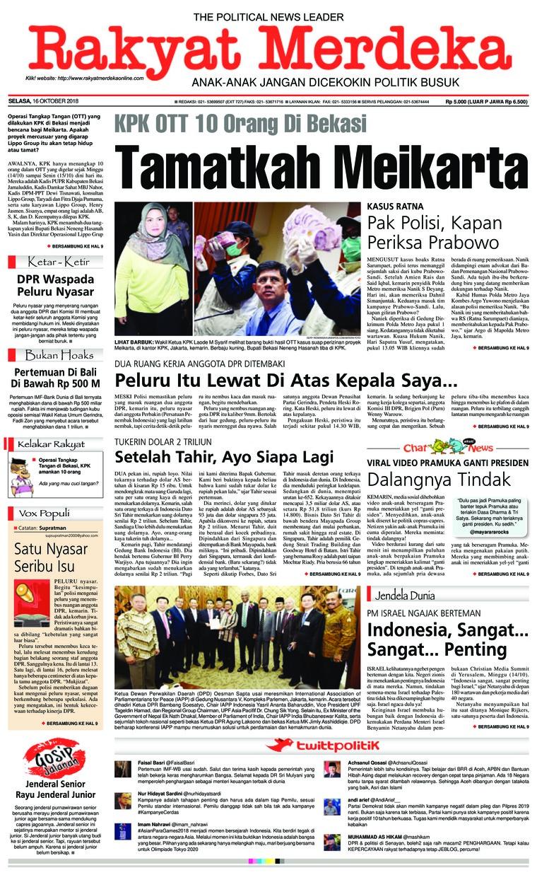 Koran Digital Rakyat Merdeka 16 Oktober 2018
