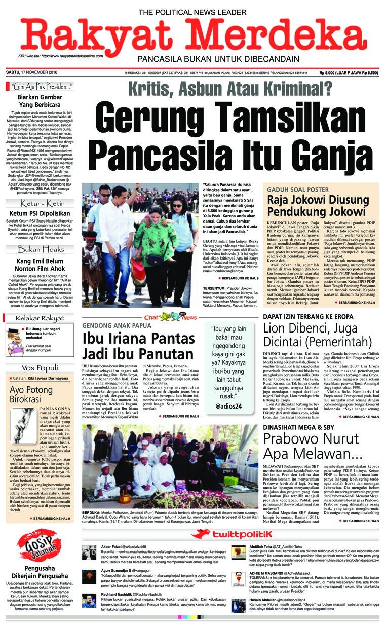 Koran Digital Rakyat Merdeka 17 November 2018