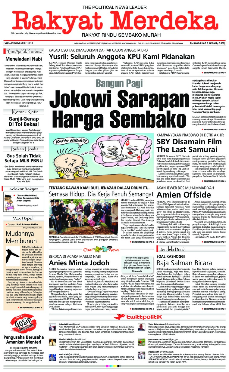 Koran Digital Rakyat Merdeka 21 November 2018