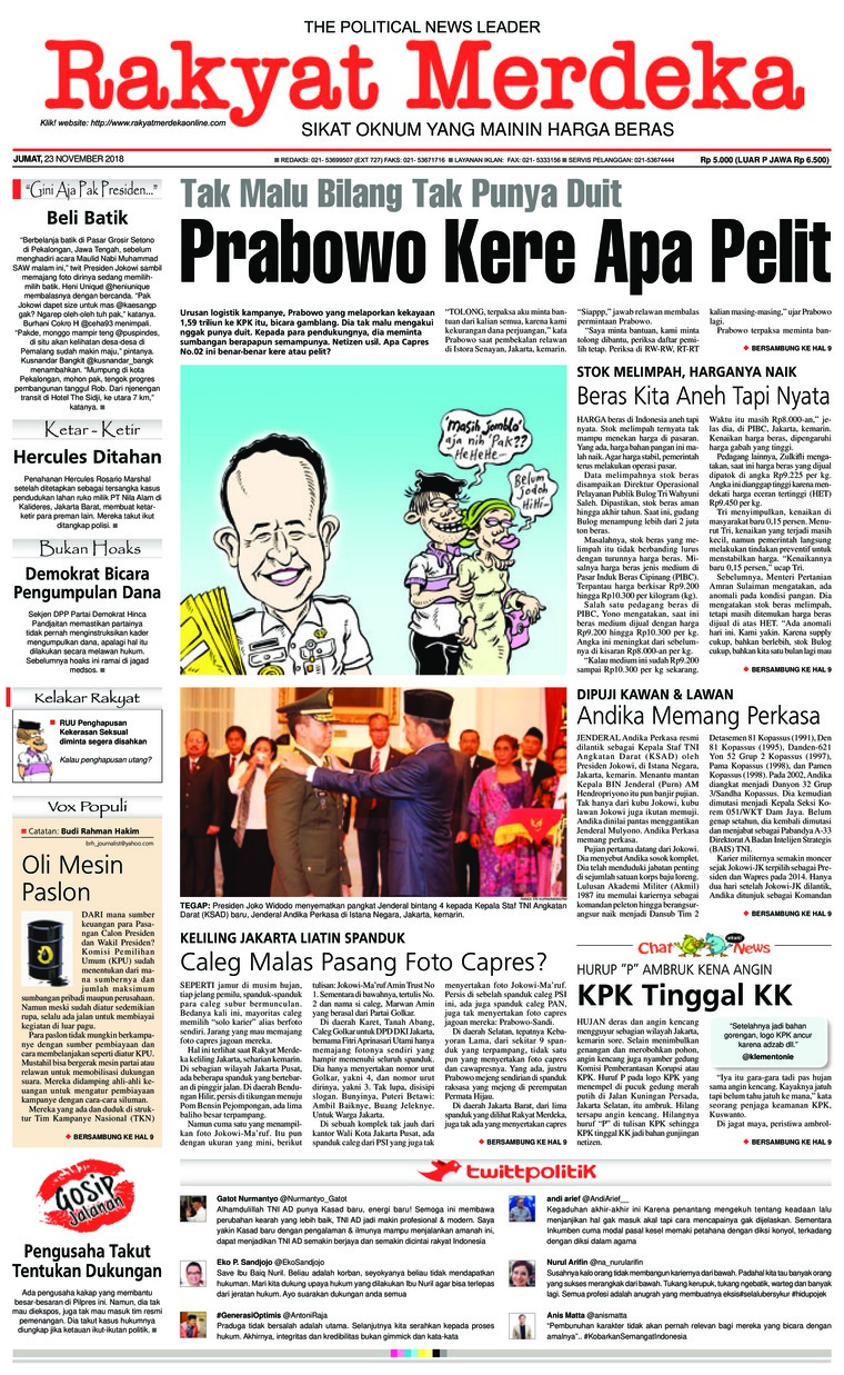 Koran Digital Rakyat Merdeka 23 November 2018