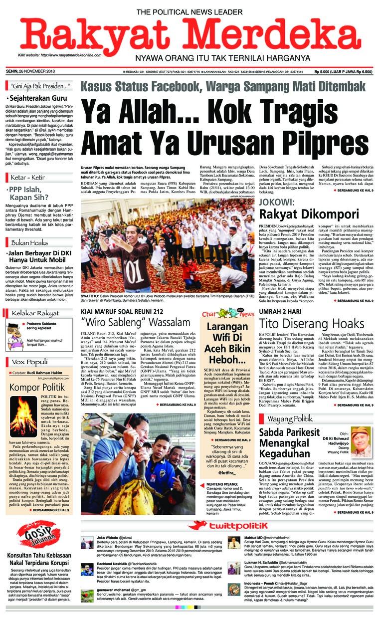 Koran Digital Rakyat Merdeka 26 November 2018