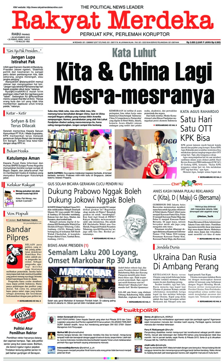 Koran Digital Rakyat Merdeka 28 November 2018