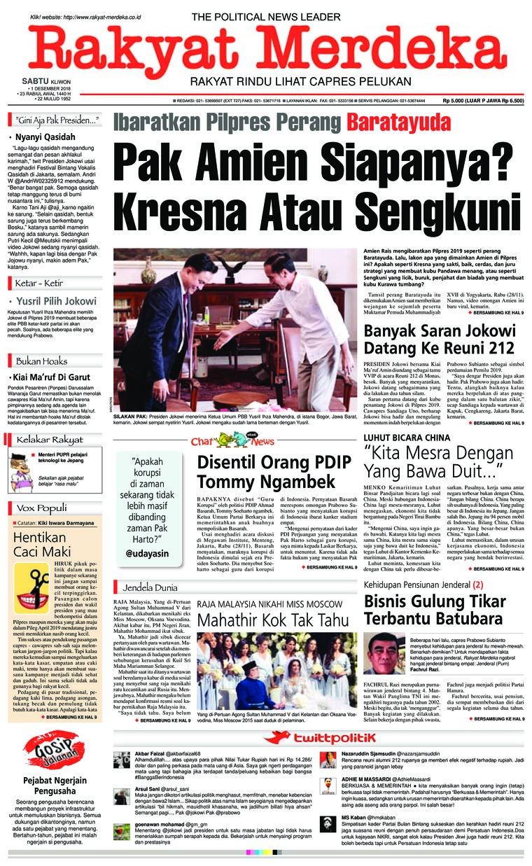 Koran Digital Rakyat Merdeka 01 Desember 2018