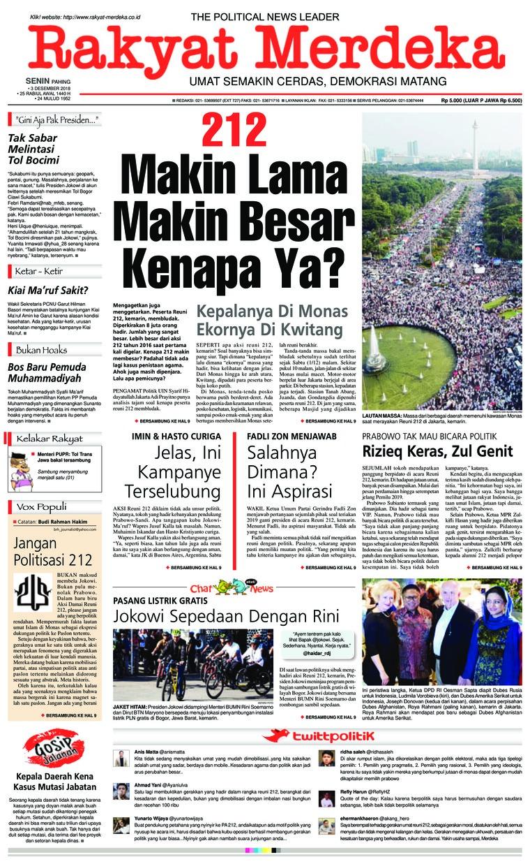 Koran Digital Rakyat Merdeka 03 Desember 2018
