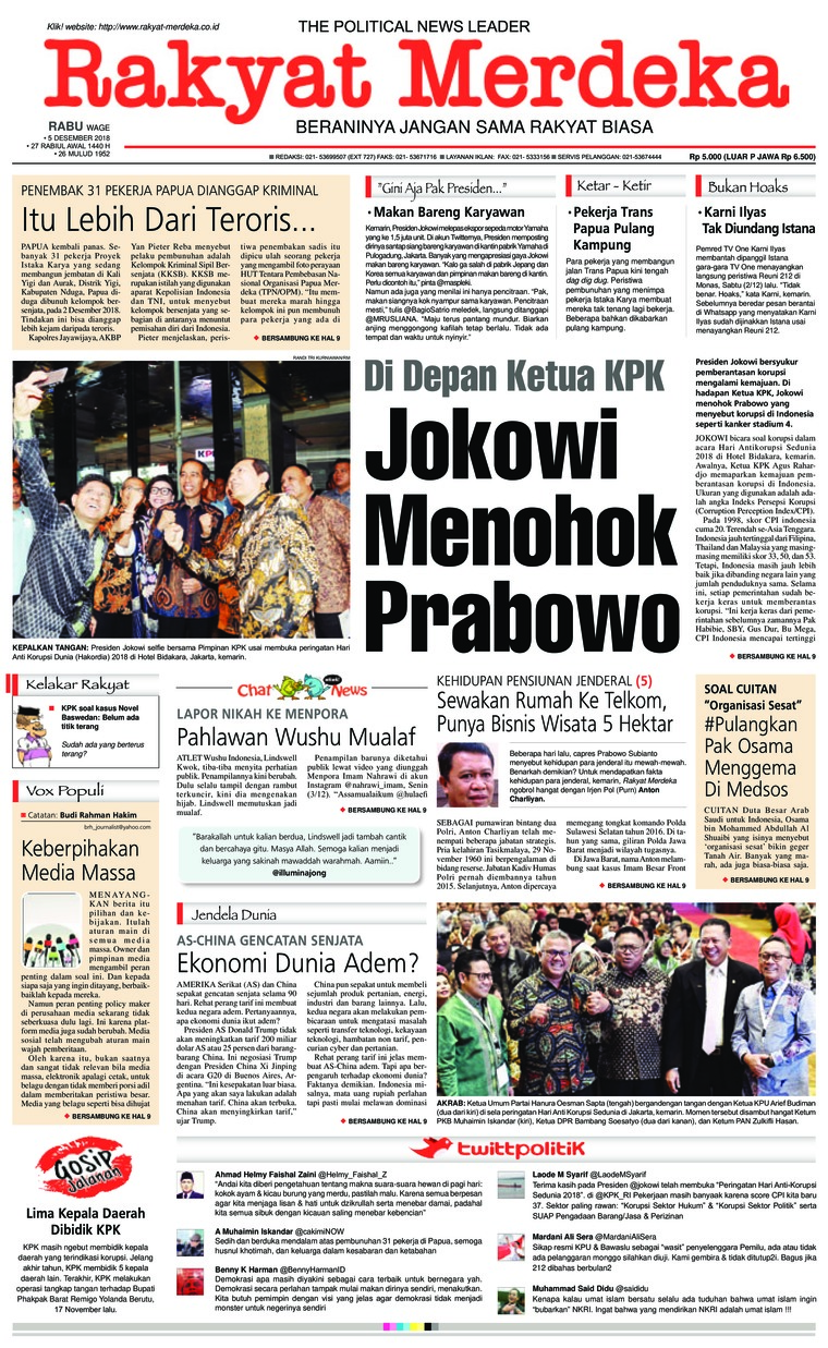 Rakyat Merdeka Digital Newspaper 05 December 2018
