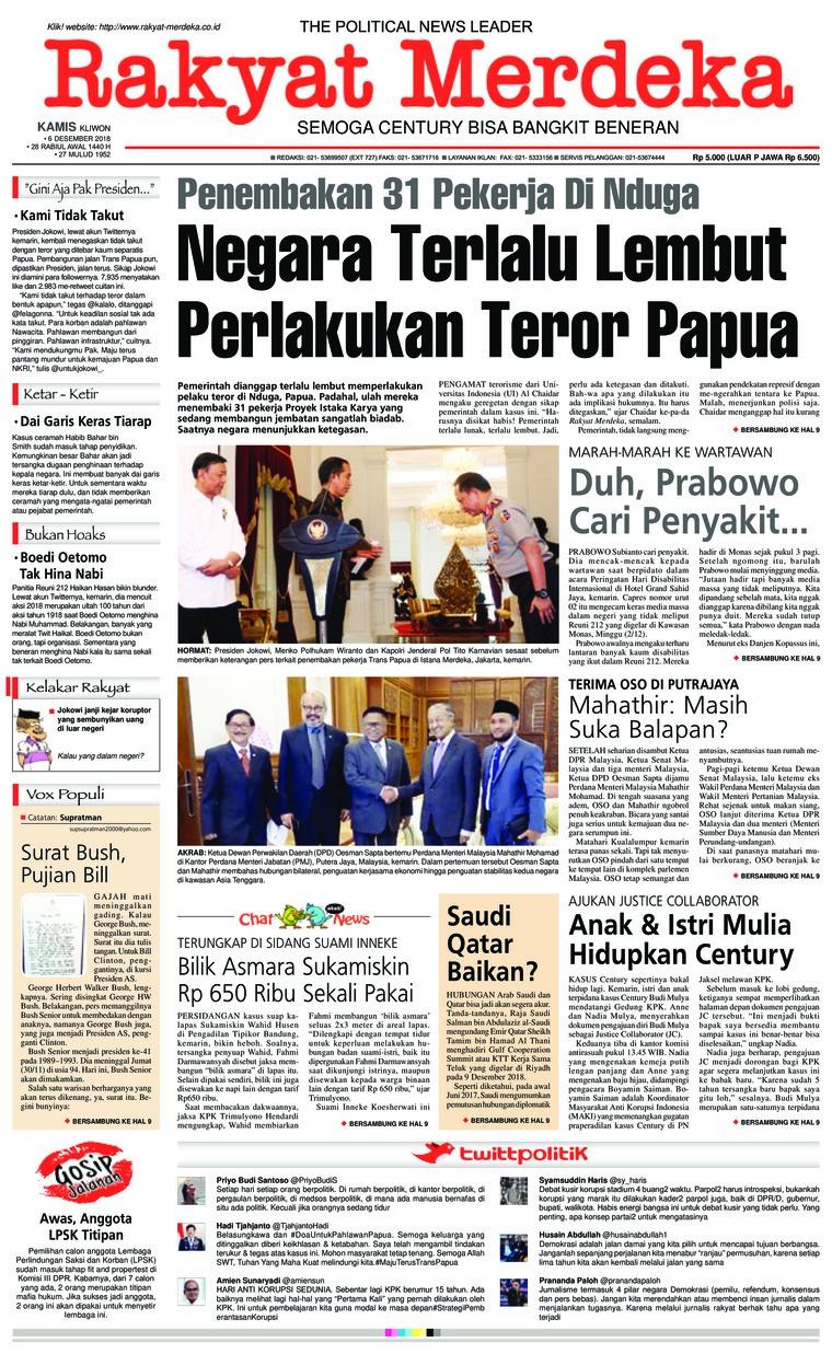 Koran Digital Rakyat Merdeka 06 Desember 2018