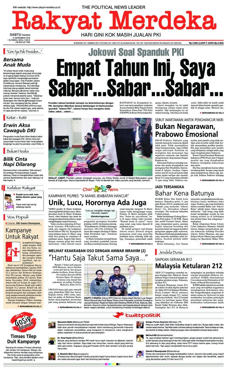 Koran Digital Rakyat Merdeka 08 Desember 2018