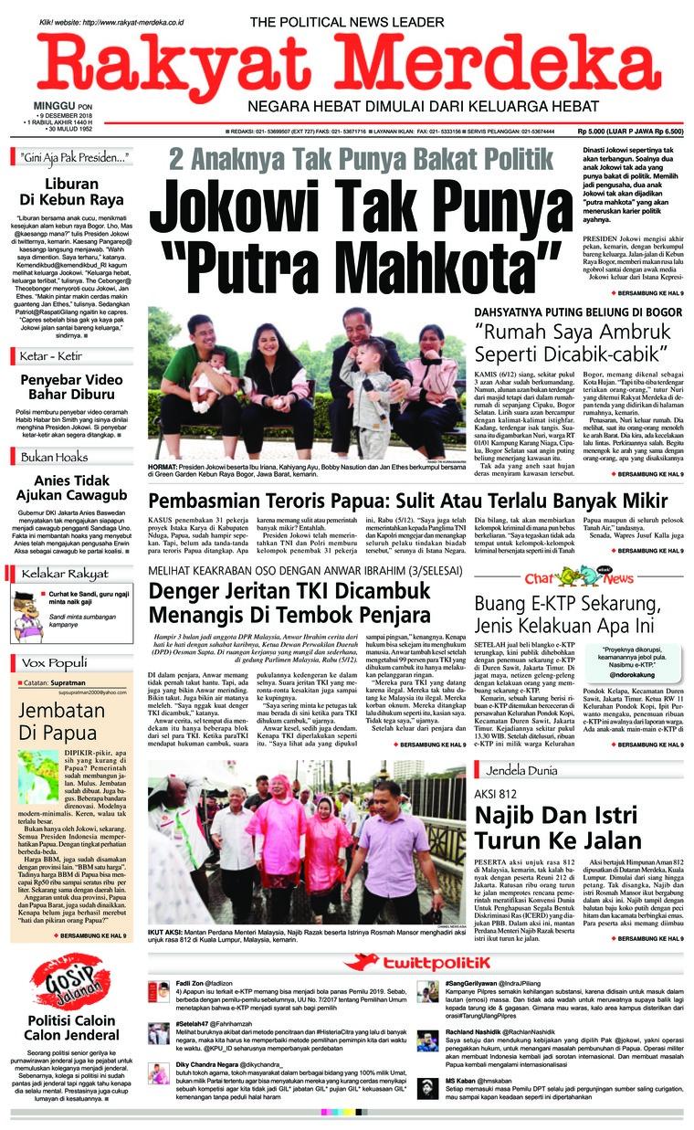 Koran Digital Rakyat Merdeka 09 Desember 2018