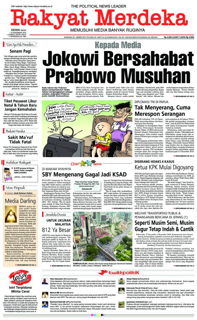 Rakyat Merdeka Digital Newspaper 10 December 2018