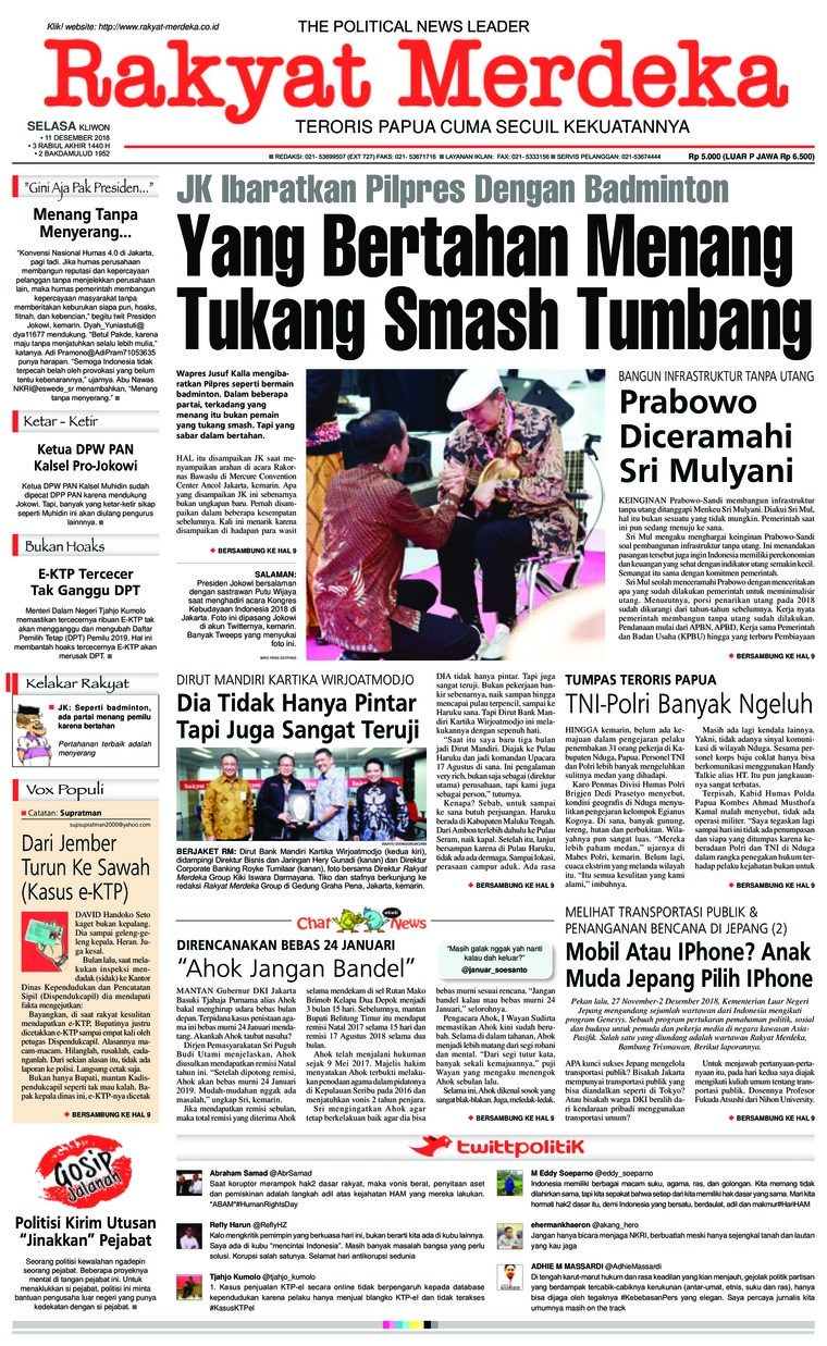 Koran Digital Rakyat Merdeka 11 Desember 2018