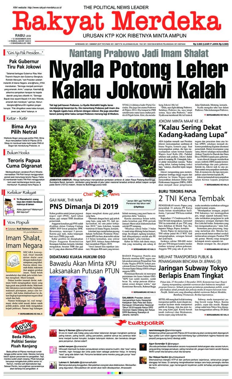 Koran Digital Rakyat Merdeka 12 Desember 2018
