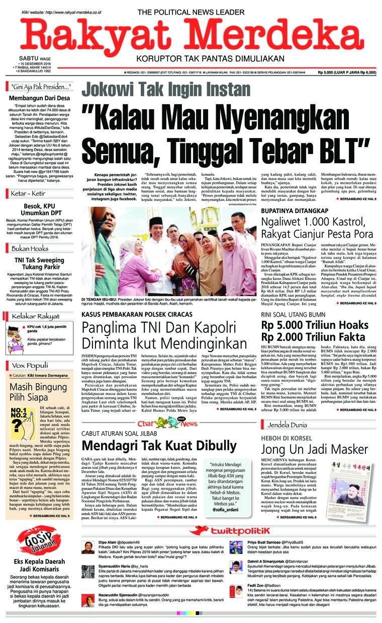 Rakyat Merdeka Digital Newspaper 15 December 2018