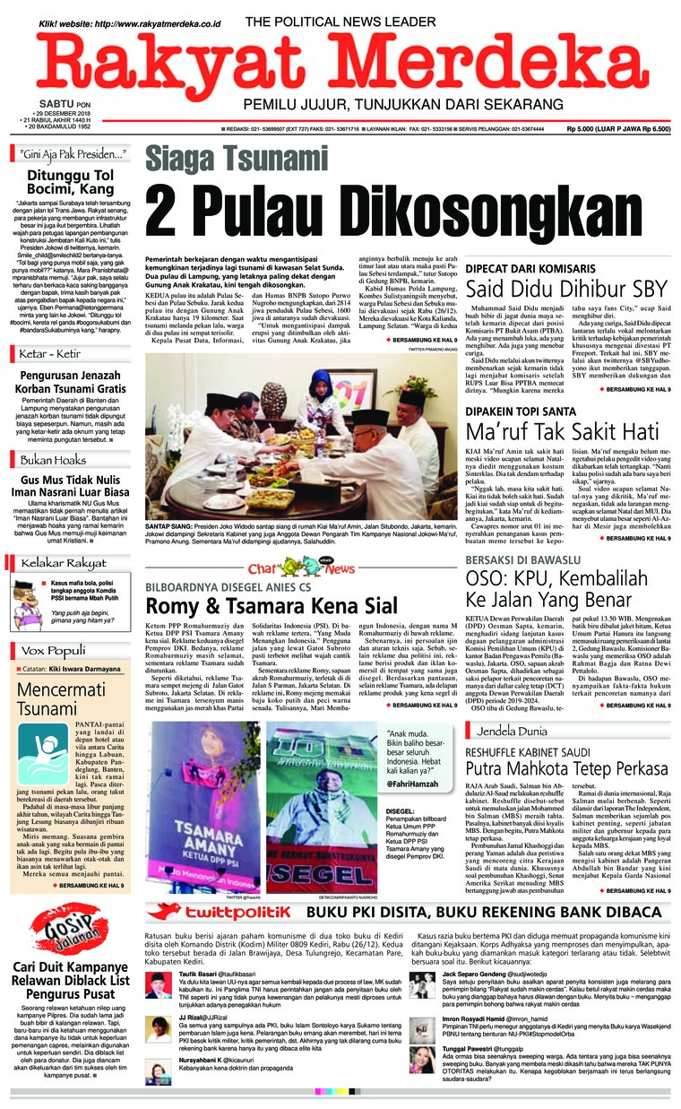 Koran Digital Rakyat Merdeka 29 Desember 2018