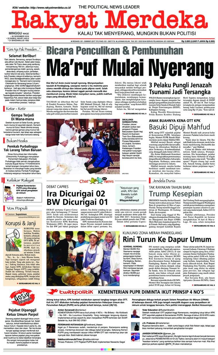 Koran Digital Rakyat Merdeka 30 Desember 2018