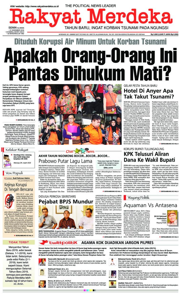 Koran Digital Rakyat Merdeka 31 Desember 2018