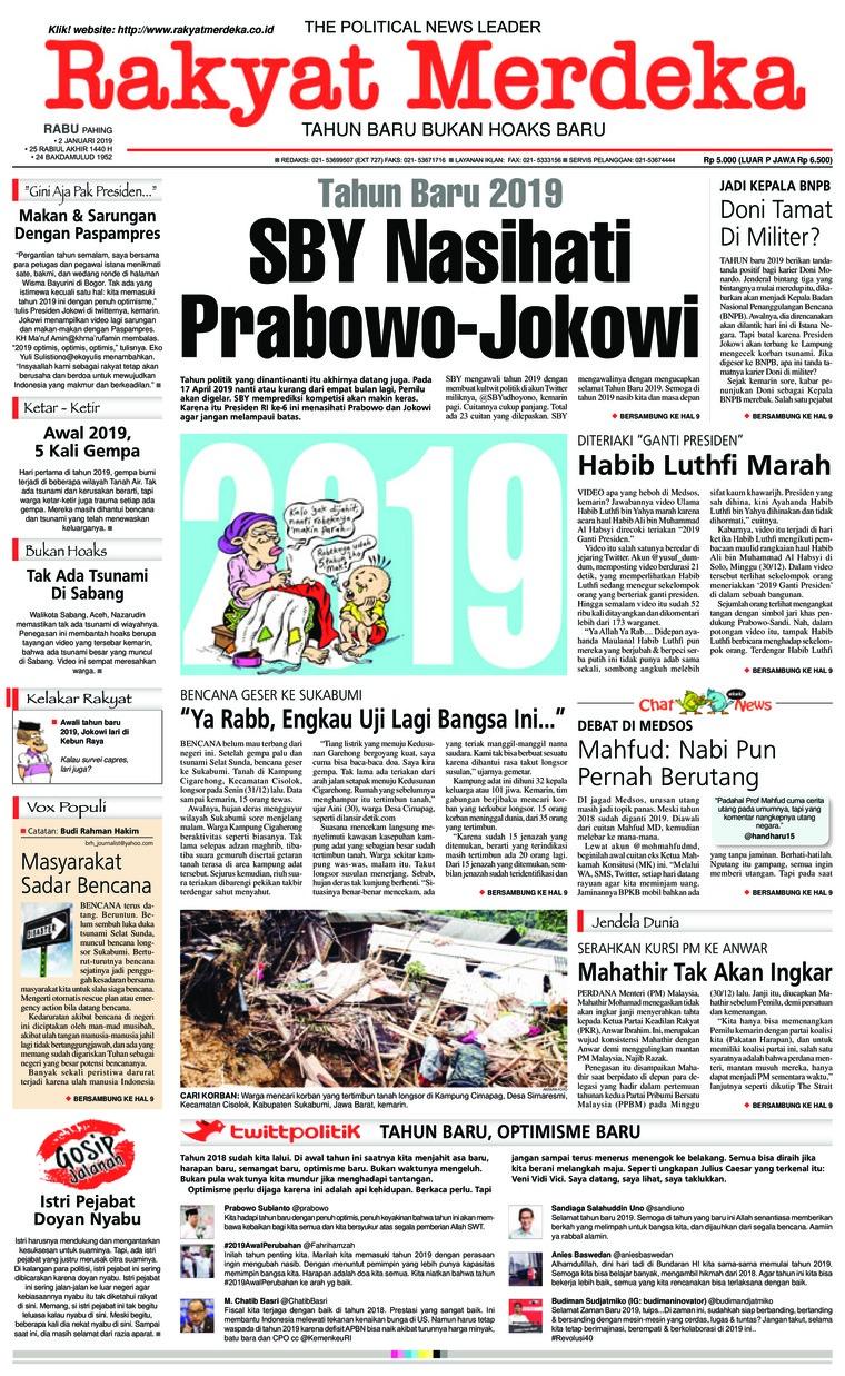 Koran Digital Rakyat Merdeka 02 Januari 2019
