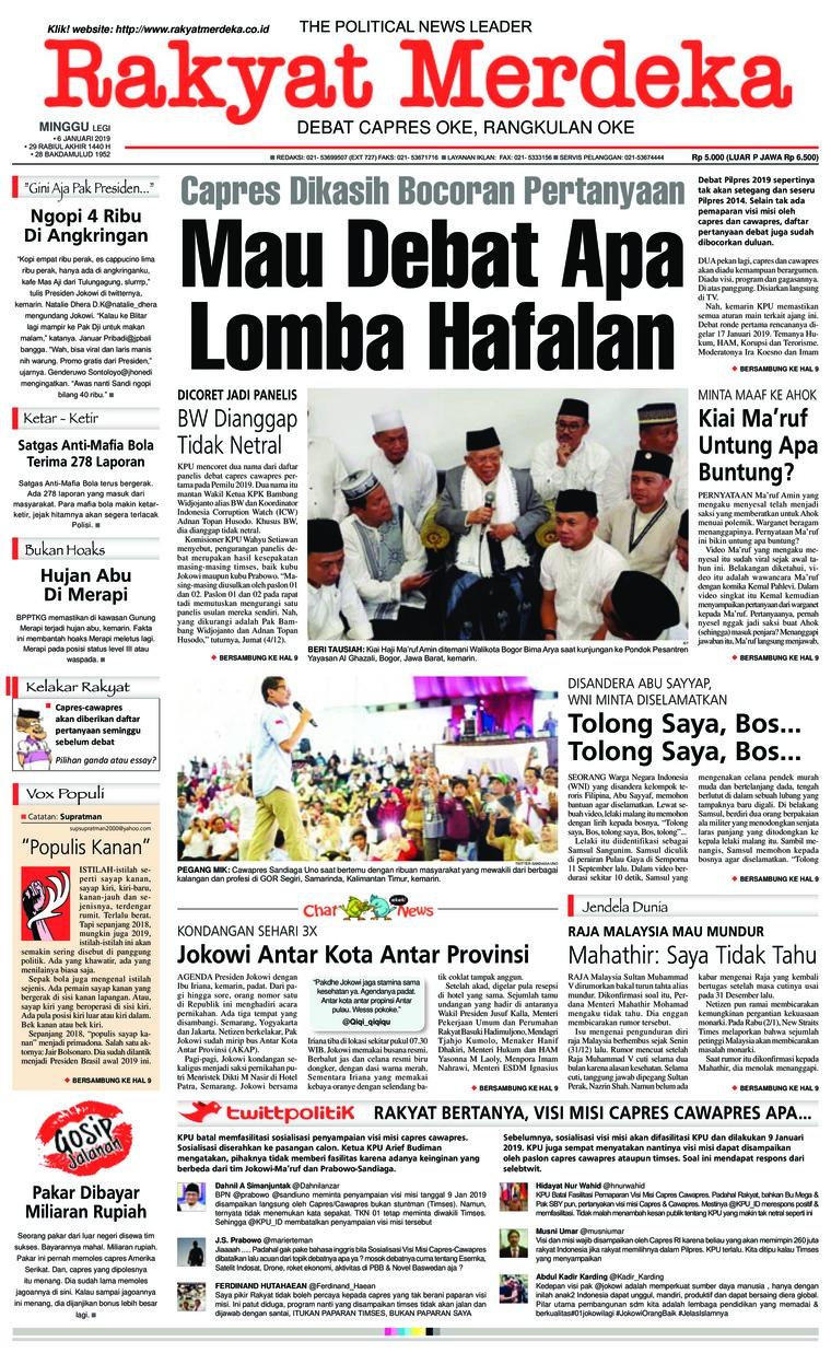 Koran Digital Rakyat Merdeka 06 Januari 2019