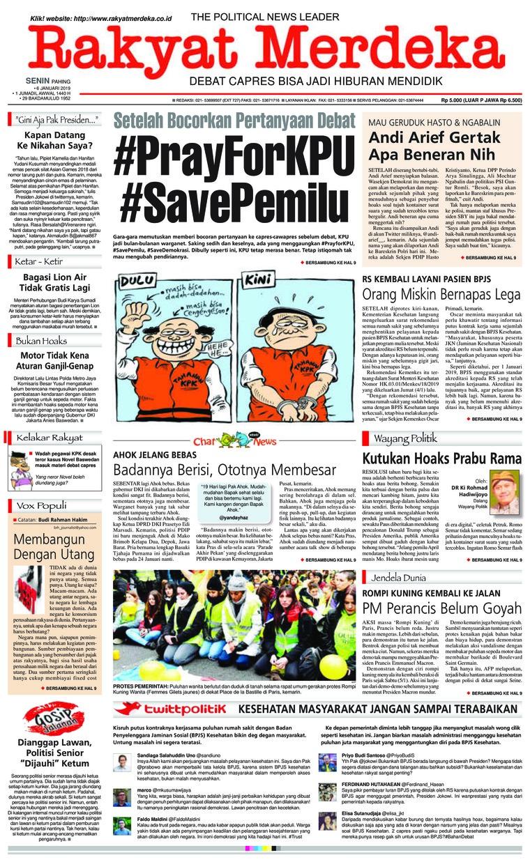 Koran Digital Rakyat Merdeka 07 Januari 2019