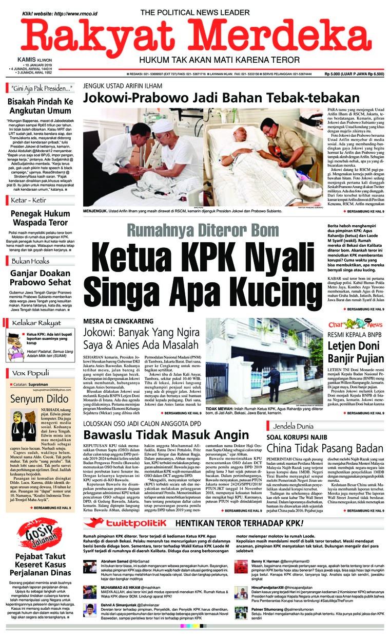 Koran Digital Rakyat Merdeka 10 Januari 2019