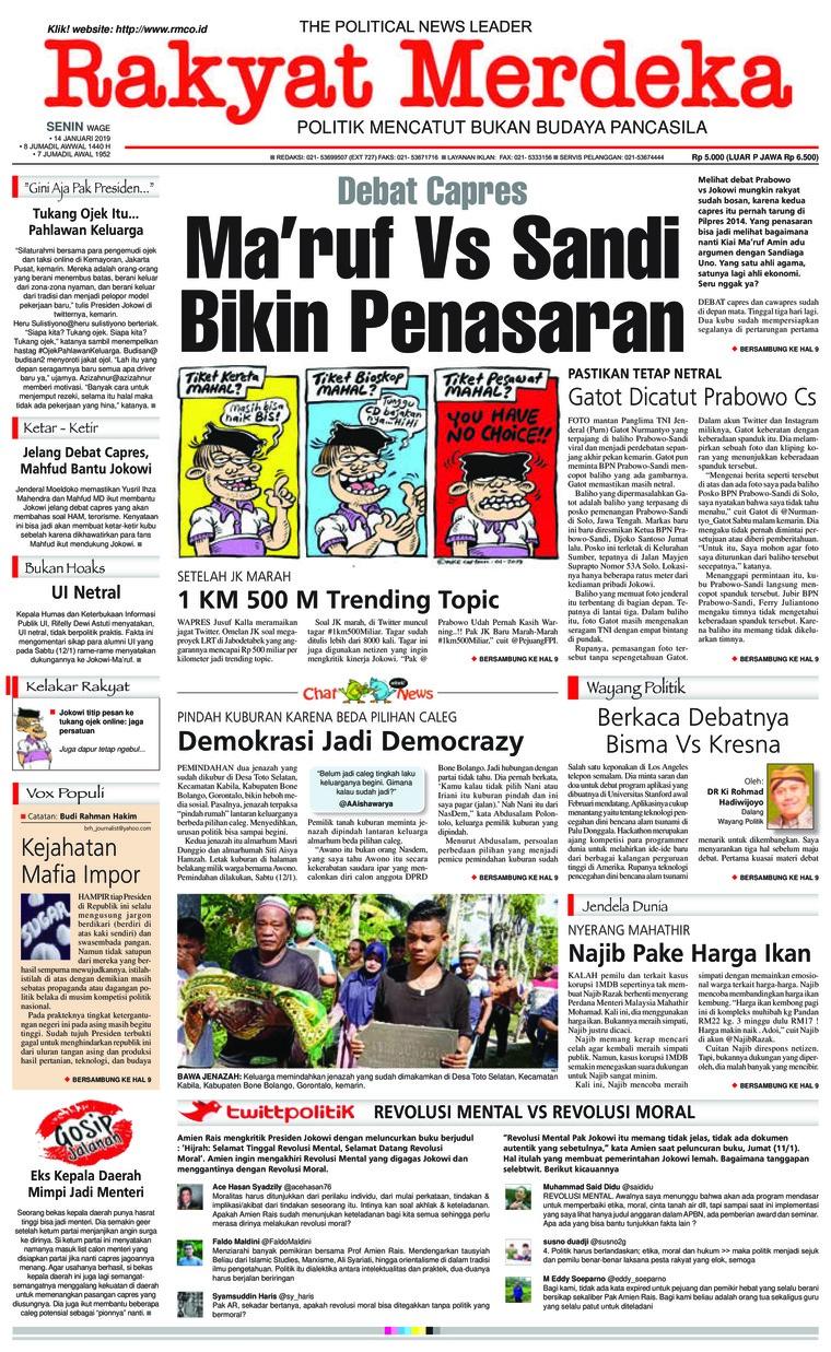 Koran Digital Rakyat Merdeka 14 Januari 2019