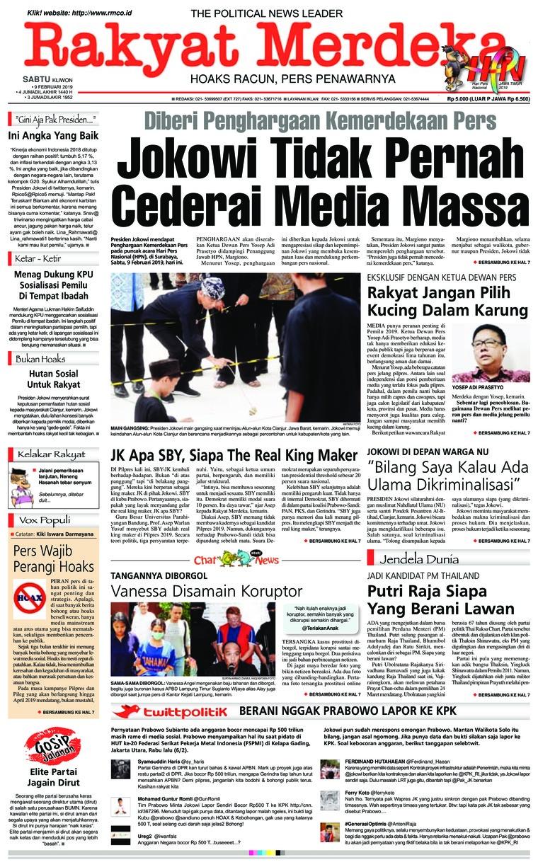 Koran Digital Rakyat Merdeka 09 Februari 2019