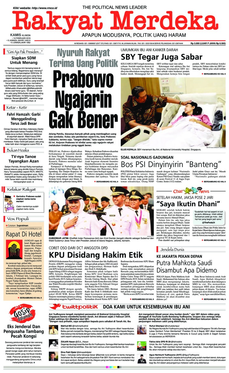 Koran Digital Rakyat Merdeka 14 Februari 2019