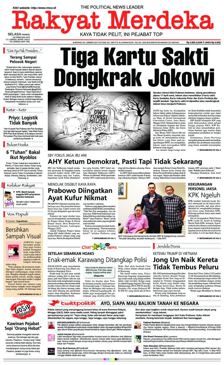 Koran Digital Rakyat Merdeka 26 Februari 2019