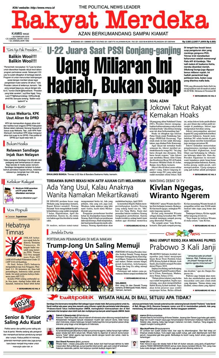 Koran Digital Rakyat Merdeka 28 Februari 2019