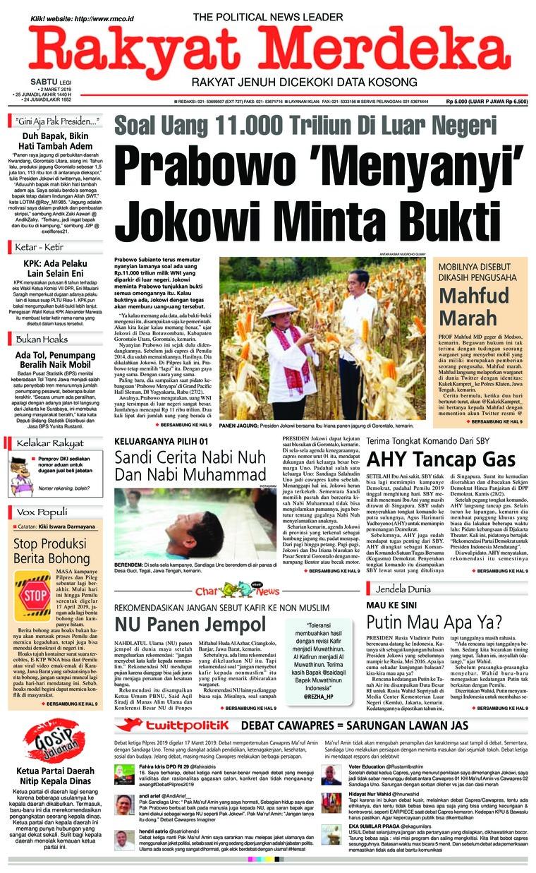 Koran Digital Rakyat Merdeka 02 Maret 2019