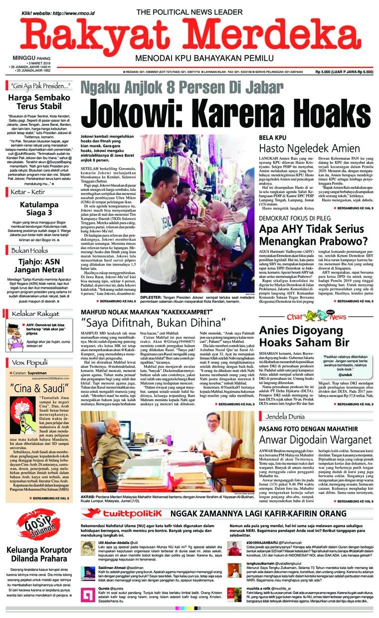 Koran Digital Rakyat Merdeka 03 Maret 2019