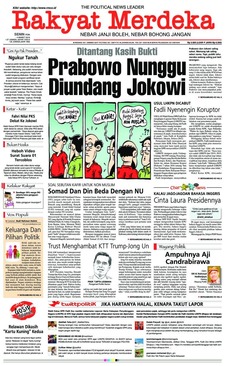 Koran Digital Rakyat Merdeka 04 Maret 2019