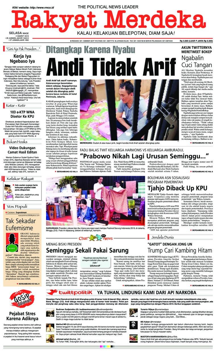 Rakyat Merdeka Digital Newspaper 05 March 2019