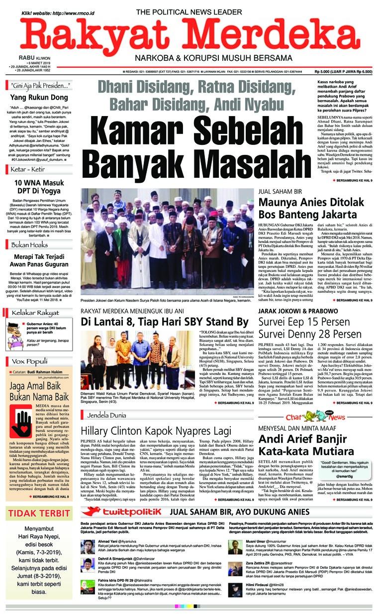 Rakyat Merdeka Digital Newspaper 06 March 2019