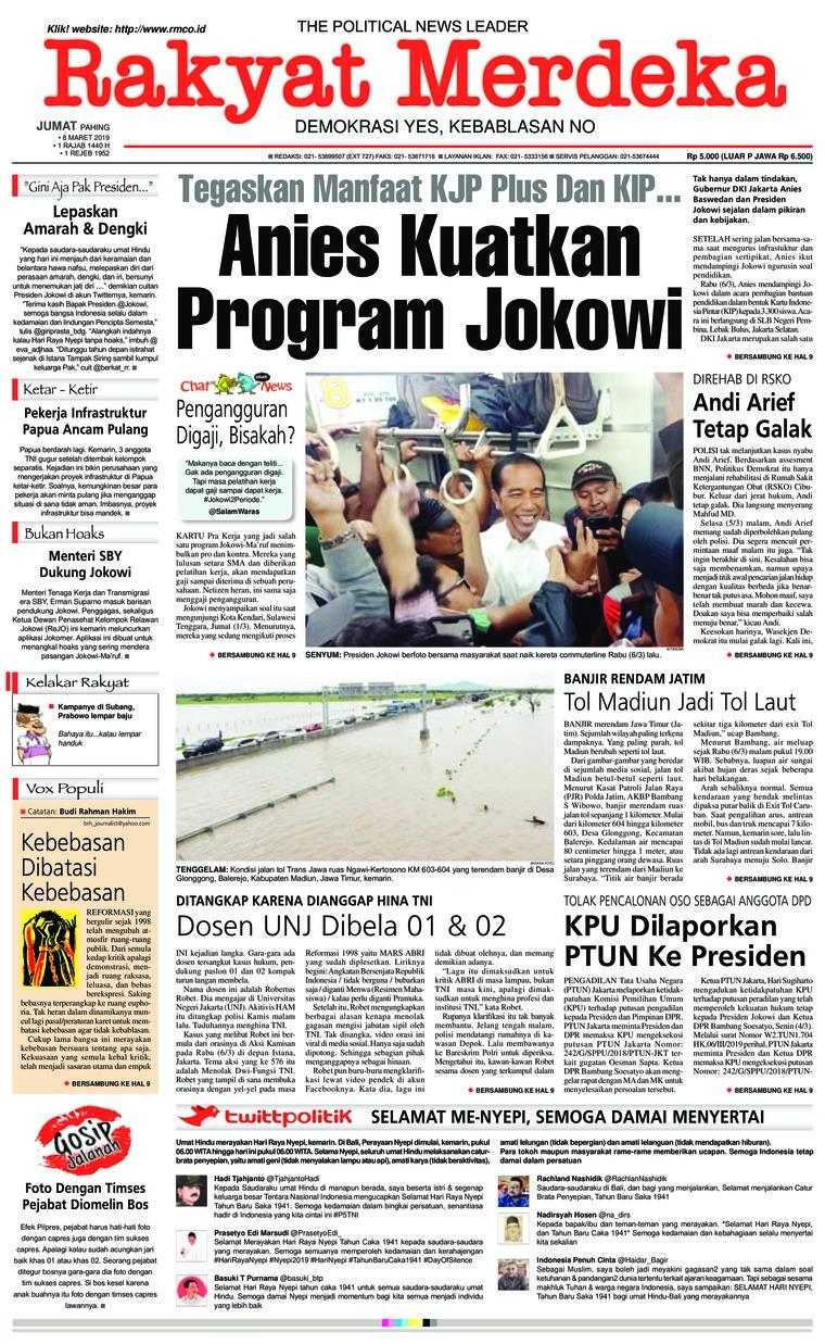 Koran Digital Rakyat Merdeka 08 Maret 2019