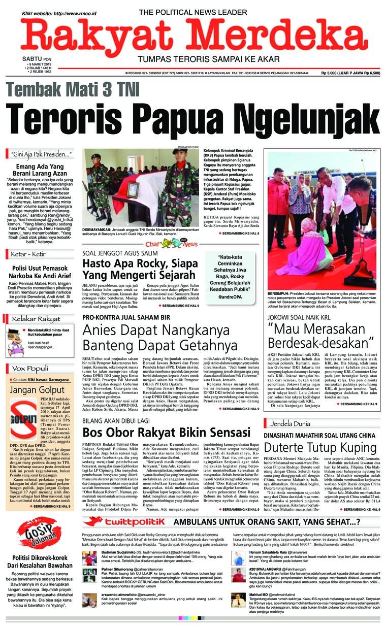 Rakyat Merdeka Digital Newspaper 09 March 2019