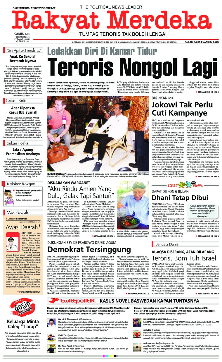 Rakyat Merdeka Digital Newspaper 14 March 2019