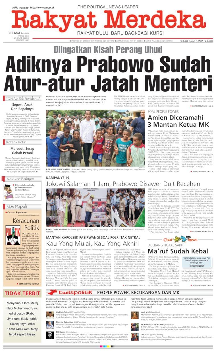 Koran Digital Rakyat Merdeka 02 April 2019
