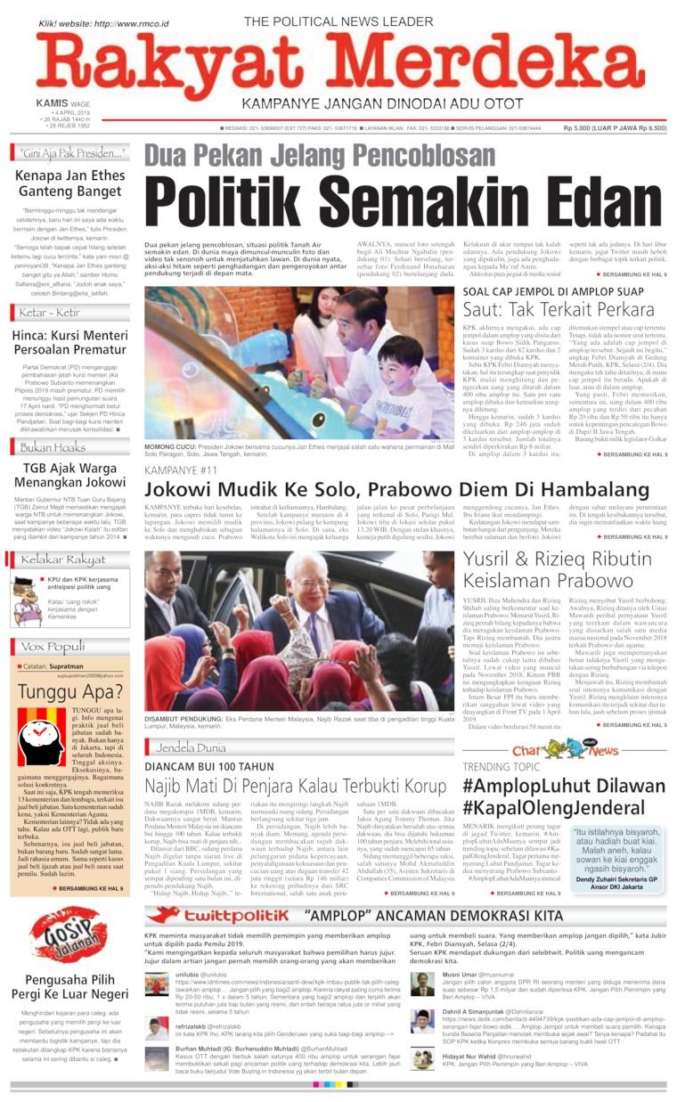 Rakyat Merdeka Digital Newspaper 04 April 2019
