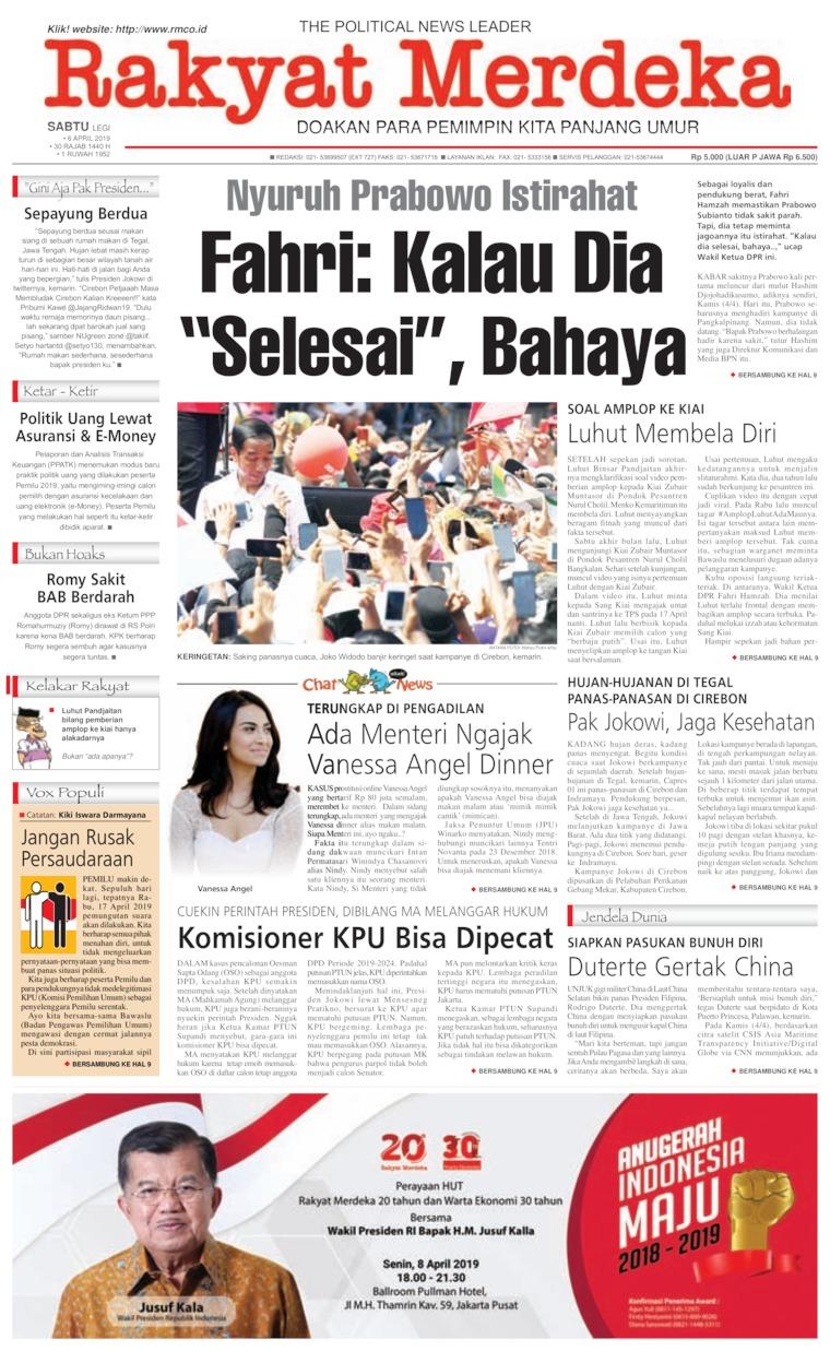 Rakyat Merdeka Digital Newspaper 06 April 2019