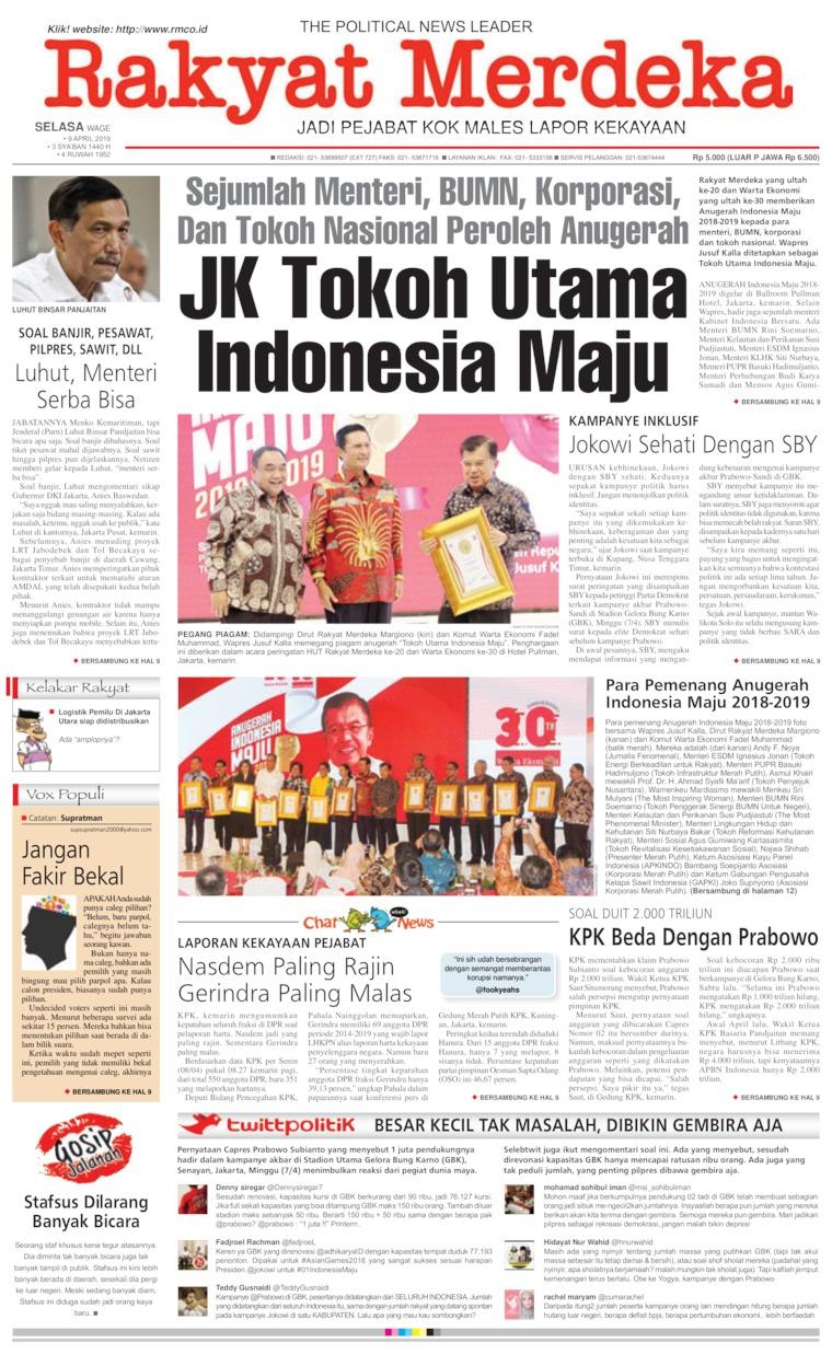 Rakyat Merdeka Digital Newspaper 09 April 2019